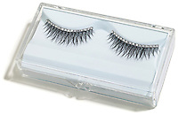 jeweled fake eyelashes in a clear case