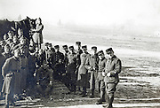 French soldiers and officers group portrait in the field 1930s 1940s