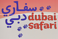 March 2, 2019 - Dubai, United Arab Emirates - Dubai Safari logo seen the start line of the seventh and final stage - Dubai Stage of the UAE Tour 2019, a 145km with a start from Dubai Safari Park and finish in City Walk area. .On Saturday, March 2, 2019, in Dubai Safari Park, Dubai Emirate, United Arab Emirates. (Credit Image: © Artur Widak/NurPhoto via ZUMA Press)