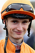 Jockey Jack Garrity during the York Coral Sprint Trophy meeting at York Racecourse, York, United Kingdom on 12 October 2019.
