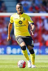 Jordan Ayew of Aston Villa - Mandatory by-line: Jason Brown/JMP - Mobile 07966 386802 08/08/2015 - FOOTBALL - Bournemouth, Vitality Stadium - AFC Bournemouth v Aston Villa - Barclays Premier League - Season opener