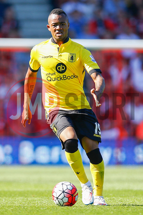 Jordan Ayew of Aston Villa - Mandatory by-line: Jason Brown/JMP - Mobile 07966 386802 08/08/2015 - FOOTBALL - Bournemouth, Vitality Stadium - AFC Bournemouth v Aston Villa - Barclays Premier League - Season opener