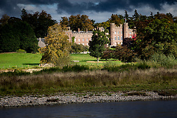 The River Tay passes Scone Palace, Perth, Scotland.