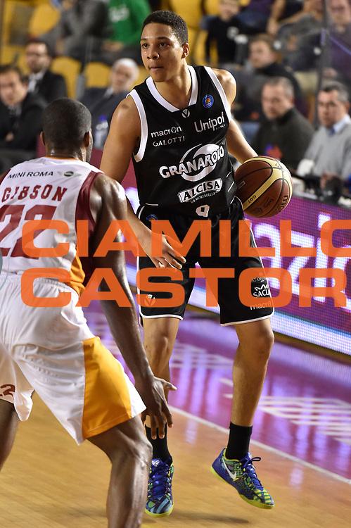 DESCRIZIONE : Roma Lega A 2014-15 Acea Roma Granarolo Bologna<br /> GIOCATORE : Abdul Gaddy<br /> CATEGORIA : palleggio sequenza<br /> SQUADRA : Acea Roma<br /> EVENTO : Campionato Lega A 2014-2015<br /> GARA : Acea Roma Granarolo Bologna<br /> DATA : 04/01/2015<br /> SPORT : Pallacanestro <br /> AUTORE : Agenzia Ciamillo-Castoria/GiulioCiamillo<br /> Galleria : Lega Basket A 2014-2015<br /> Fotonotizia : Roma Lega A 2014-15 Acea Roma Granarolo Bologna
