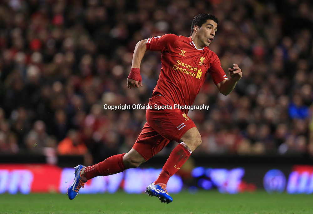 26th March 2014 - Barclays Premier League - Liverpool v Sunderland - Luis Suarez of Liverpool - Photo: Simon Stacpoole / Offside.