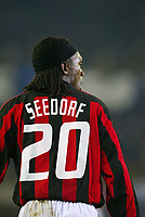 Fotball, 4. november 2003, Champions League,, Club Brugge ( Brügge )-Milan 0-1,  Seedorf, Milan