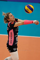 20180110 NED: CEV CUP Sliedrecht Sport - Beziers Angels VB: Sliedrecht<br />Alexandra Rochelle (18) of Beziers VB<br />©2018-FotoHoogendoorn.nl / Pim Waslander