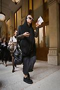 In attesa della sfilata di Gian Franco Ferre' alla settimana della moda a Milano.<br /> <br /> Waiting the fashion show of Gian Franco Ferre' during the fashion week in Milan.