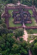 Aerial view of Bantay Samre, east of Angkor Wat, Siem Reap, Cambodia.