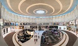 Interior of atrium at Fashion Avenue in Dubai Mall in Dubai United Arab Emirates