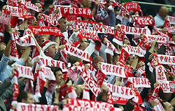 11.10.2014, National Stadium, Warsaw, POL, UEFA Euro Qualifikation, Polen vs Deutschland, Gruppe D, im Bild KIBICE FANI POLSKA SZALIKI RADOSC // SUPPORTERS FANS OF POLAND // during the UEFA EURO 2016 Qualifier group D match between Poland and Germany at the National Stadium in Warsaw, Poland on 2014/10/11. EXPA Pictures © 2014, PhotoCredit: EXPA/ Newspix/ Michal Nowak<br /> <br /> *****ATTENTION - for AUT, SLO, CRO, SRB, BIH, MAZ, TUR, SUI, SWE only*****