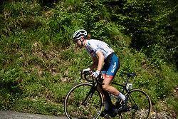 Cecilie Uttrup Ludwig (DEN) on Monte Zoncolan at Giro Rosa 2018 - Stage 9, a 104.7 km road race from Tricesimo to Monte Zoncolan, Italy on July 14, 2018. Photo by Sean Robinson/velofocus.com