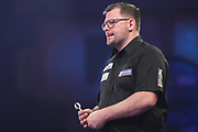 James Wade during the PDC William Hill World Darts Championship at Alexandra Palace, London, United Kingdom on 22 December 2019.