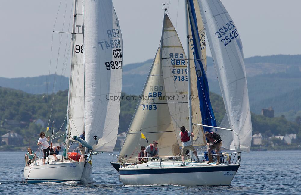 Silvers Marine Scottish Series 2017<br /> Tarbert Loch Fyne - Sailing<br /> <br /> CYCA Class 5 2542C, Sirius, Richard Doig, East Antrim BC, GK24