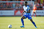 Sullay Kaikai of Blackpool  during the EFL Sky Bet League 1 match between Accrington Stanley and Blackpool at the Fraser Eagle Stadium, Accrington, England on 21 September 2019.