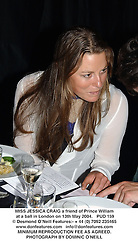 MISS JESSICA CRAIG a friend of Prince William at a ball in London on 13th May 2004.<br /> PUD 159
