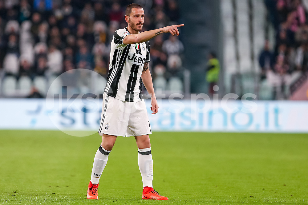 Leonardo Bonucci of Juventus during the Serie A match between Juventus and Palermo at the Juventus Stadium, Turin, Italy on 17 February 2017. Photo by Marco Canoniero.