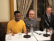 MO GILLIGAN; SIMON GUNNING, MARTIN DAUBNEY,  Ann Coffey MP hosts a reception and panel debate  on behalf of Harry's Grooming to launch the Masculinity Report. Houses of Parliament. 16 November 2017.