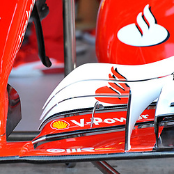 The front wing of the Scuderia Ferrari.<br /> <br /> Round 1 - 2nd day of the 2017 Formula 1 Rolex Australian Grand Prix at The circuit of Albert Park, Melbourne, Victoria on the 24th March 2017.<br /> Wayne Neal | SportPix.org.uk