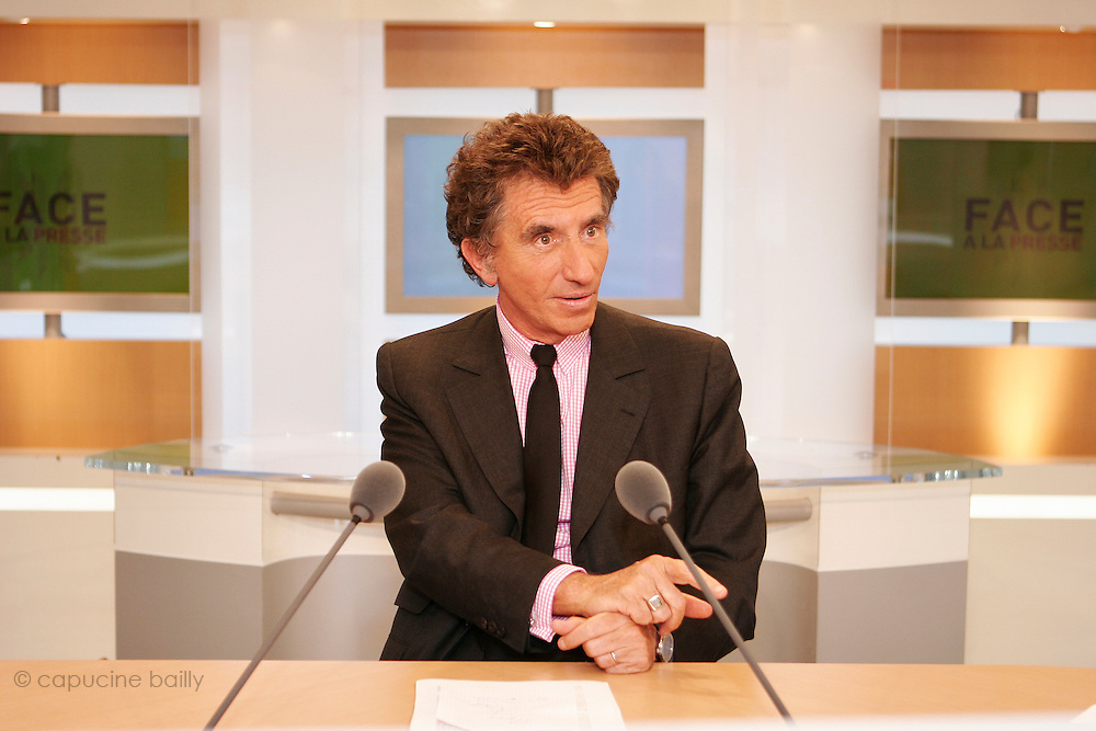 TV Channel Public Senat - Paris, France. June 28th 2006..Jack Lang is the gest of one of the emissions of French TV channel Public Senat.