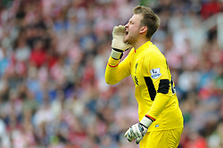 Simon Mignolet of Liverpool - Mandatory byline: Dougie Allward/JMP - 07966386802 - 09/08/2015 - FOOTBALL - Britannia Stadium -Stoke-On-Trent,England - Stoke City v Liverpool - Barclays Premier League