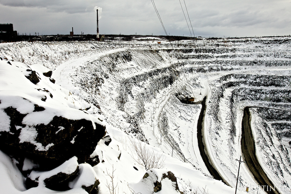 The Olcon iron-ore mine in Olenegorsk, north of the Arctic Circle in Murmansk province, Russia