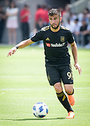 Los Angeles FC forward Diego Rossi (9) in action during a MLS soccer match in Los Angeles, Saturday, May 5, 2018. (Eddie Ruvalcaba/Image of Sport)