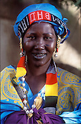 (MODEL RELEASED IMAGE). Fatoumata Toure. The Natomo family of Kouakourou, Mali, is one of the thirty families featured, with a weeks' worth of food, in the book Hungry Planet: What the World Eats. (Supporting image from the project Hungry Planet: What the World Eats.)
