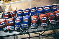Gloves for fighters in Pattaya, Thailand.