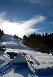 03.02.2011, Garmisch Partenkirchen, GER, FIS Alpine World Championships Garmisch Partenkirchen, Vorberichte, im Bild Preview images for the 2011 Alpine skiing World Championships. A general view of the slalom course, EXPA Pictures © 2011, PhotoCredit: EXPA/ M. Gunn