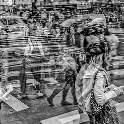 In Camera Multiple Exposure - Street