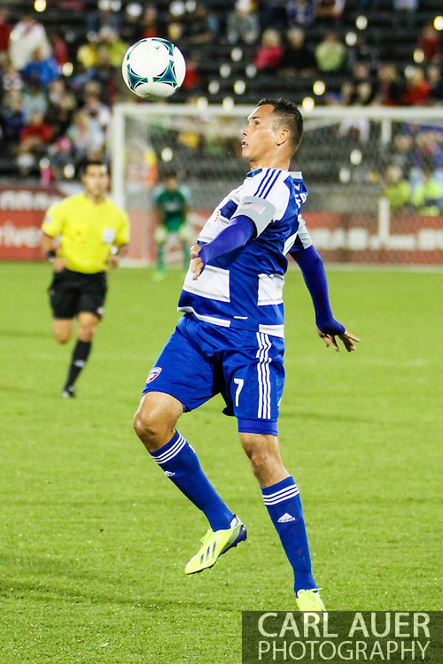 September 14th, 2013 -  FC Dallas forward Blas Pérez (7) collects a pass in the second half of the MLS Soccer game between FC Dallas and the Colorado Rapids at Dick's Sporting Goods Park in Commerce City, CO