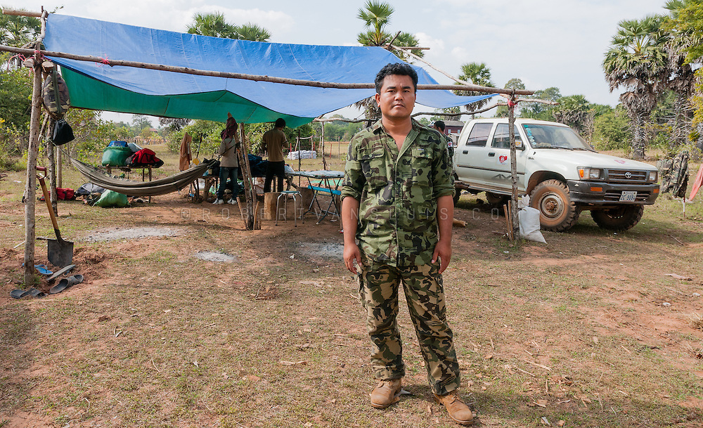 Aki Ra, former Khmer Rouge child soldier, now clearing land mines, Cambodia