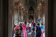 Tourist and visitors explore within Angkor Wat Siem Reap, Cambodia. Angkor Wat is Cambodia's main tourist destination and one of UNESCO's world heritage sites. <br /> (photo by Andrew Aitchison / In pictures via Getty Images)