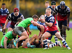 Reiss Cullen of Bristol Bears United - Mandatory by-line: Paul Knight/JMP - 02/12/2018 - RUGBY - Clifton RFC - Bristol, England - Bristol Bears United v Harlequins - Premiership Rugby Shield