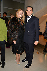 SERENA HOOD and RICHARD DENNEN at a private view of Isabella Blow: Fashion Galore! held at Somerset House, London on 19th November 2013.