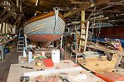 Everson and Sons Ltd traditional boatyard, Woodbridge, Suffolk, England, UK