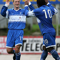 St Johnstone v Queen of the South...21.10.06<br />Paul Sheerin celebrates scoring his second goal, Saints third<br /><br />Picture by Graeme Hart.<br />Copyright Perthshire Picture Agency<br />Tel: 01738 623350  Mobile: 07990 594431
