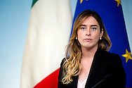 Rome may 10th 2016, cabinet meeting press conference. In the picture Maria Elena Boschi
