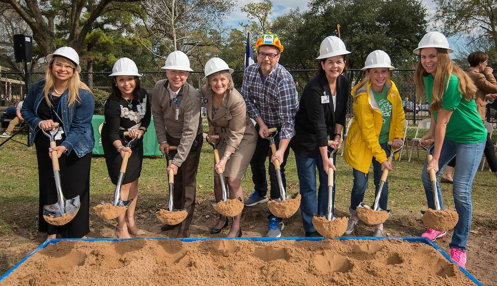 Groundbreaking ceremony at Garden Oaks Montessori, February 17, 2017.