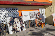 The Venice boardwalk in Los Angeles, California.