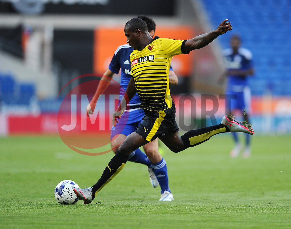 Odion Ighalo of Watford Shoots  - Mandatory by-line: Joe Meredith/JMP - 07966386802 - 28/07/2015 - SPORT - FOOTBALL - Cardiff,Wales - Cardiff City Stadium - Cardiff City v Watford - Pre-Season Friendly