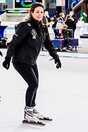 HEERENVEEN - Prinses Annette  op het ijs van Thialf Heerenveen tijdens De Hollandse 100. Het doel van dit sportieve evenement is het ophalen van geld voor onderzoek naar lymfklierkanker. ANP ROYAL IMAGES ROBIN UTRECHT
