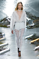 Lina Berg (Fusion) walks the runway wearing Rodarte Fall 2015 during Mercedes-Benz Fashion Week in New York on February 17, 2015