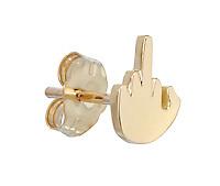 Emoji Hand gesture earring by Wendy Brandes.