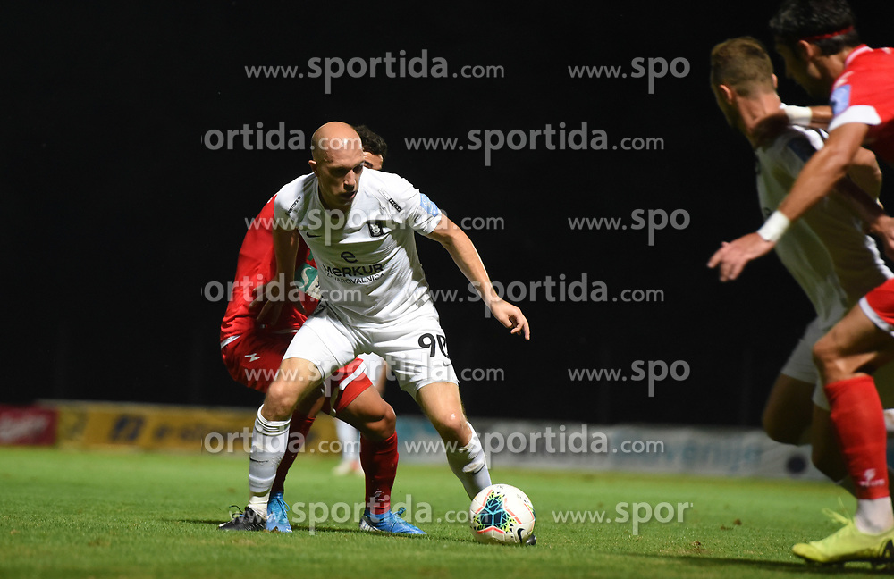 during football match between NK Aluminij and NK Olimpija in 6st Round of Prva liga Telekom Slovenije 2019/20, on August 18, 2019 in Sportni park NK Aluminij, Kidricevo, Slovenia. Photo by Milos Vujinovic / Sportida