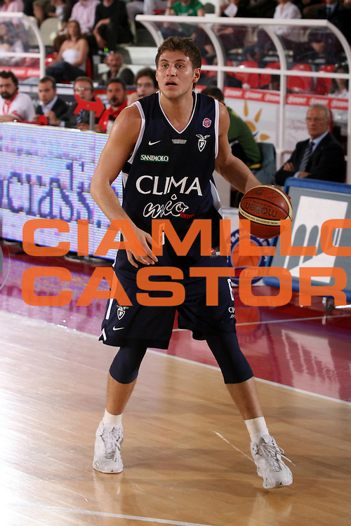 DESCRIZIONE : Teramo Lega A1 2006-07 Siviglia Wear Teramo Climamio Fortitudo Bologna <br /> GIOCATORE : Mancinelli <br /> SQUADRA : Climamio Fortitudo Bologna <br /> EVENTO : Campionato Lega A1 2006-2007 <br /> GARA : Siviglia Wear Teramo Climamio Fortitudo Bologna <br /> DATA : 22/04/2007 <br /> CATEGORIA : Palleggio <br /> SPORT : Pallacanestro <br /> AUTORE : Agenzia Ciamillo-Castoria/G.Ciamillo