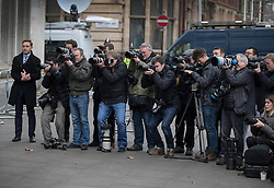 © Licensed to London News Pictures. 08/12/2016. London, UK. Photographers record the arrival of GINA MILLER at the Supreme Court in Westminster, London for the last day of a hearing to appeal against a November 3 High Court ruling that Article 50 cannot be triggered without a vote in Parliament. Photo credit: Peter Macdiarmid/LNP
