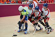 Graz, Austria - 2017 March 17: SO Poland compete with SO Algeria in Floor Hockey while Special Olympics World Winter Games Austria 2017 at Messe Graz on March 17, 2017 in Graz, Austria.<br /> <br /> Mandatory credit:<br /> Photo by &copy; Adam Nurkiewicz / Mediasport<br /> <br /> Adam Nurkiewicz declares that he has no rights to the image of people at the photographs of his authorship.<br /> <br /> Picture also available in RAW (NEF) or TIFF format on special request.<br /> <br /> Any editorial, commercial or promotional use requires written permission from the author of image.<br /> <br /> Image can be used in the press when the method of use and the signature does not hurt people on the picture.