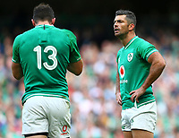 Rugby Union - 2019 pre-Rugby World Cup warm-up (Guinness Summer Series) - Ireland vs. Wales<br /> <br /> Rob Kearney (Ireland) and Robbie Henshaw (Ireland) at The Aviva Stadium.<br /> <br /> COLORSPORT/KEN SUTTON
